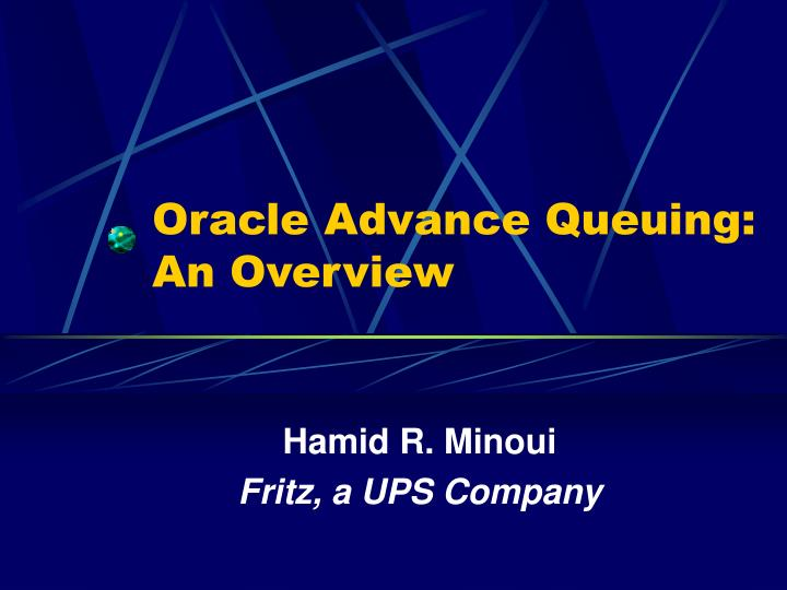 oracle advance queuing an overview n.