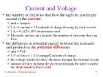 current and voltage