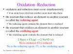 oxidation reduction8
