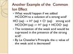 another example of the common ion effect