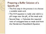 preparing a buffer solution of a specific ph