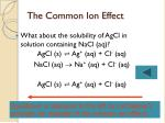 the common ion effect39