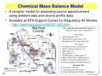 chemical mass balance model