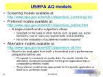 usepa aq models