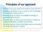 principles of our approach