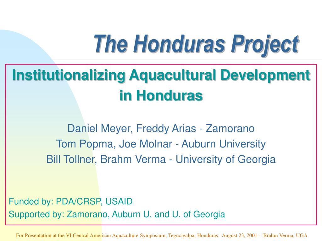the honduras project l.
