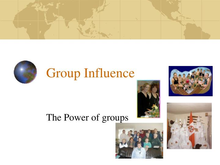 group influence n.