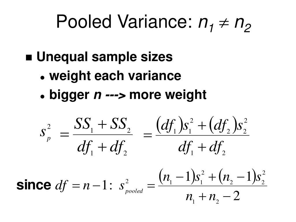 Pooled Variance: