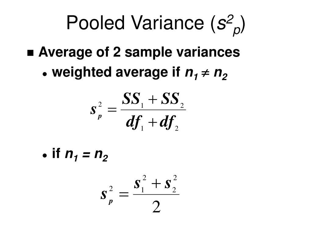 Pooled Variance (