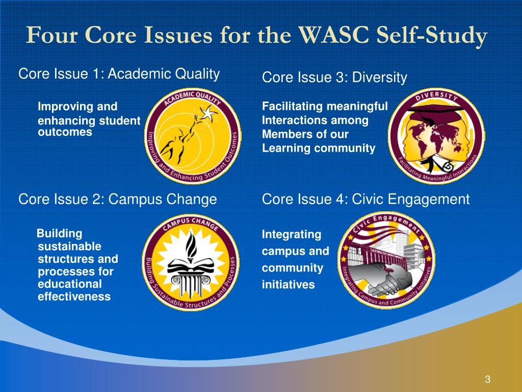 Four Core Issues for the WASC Self-Study