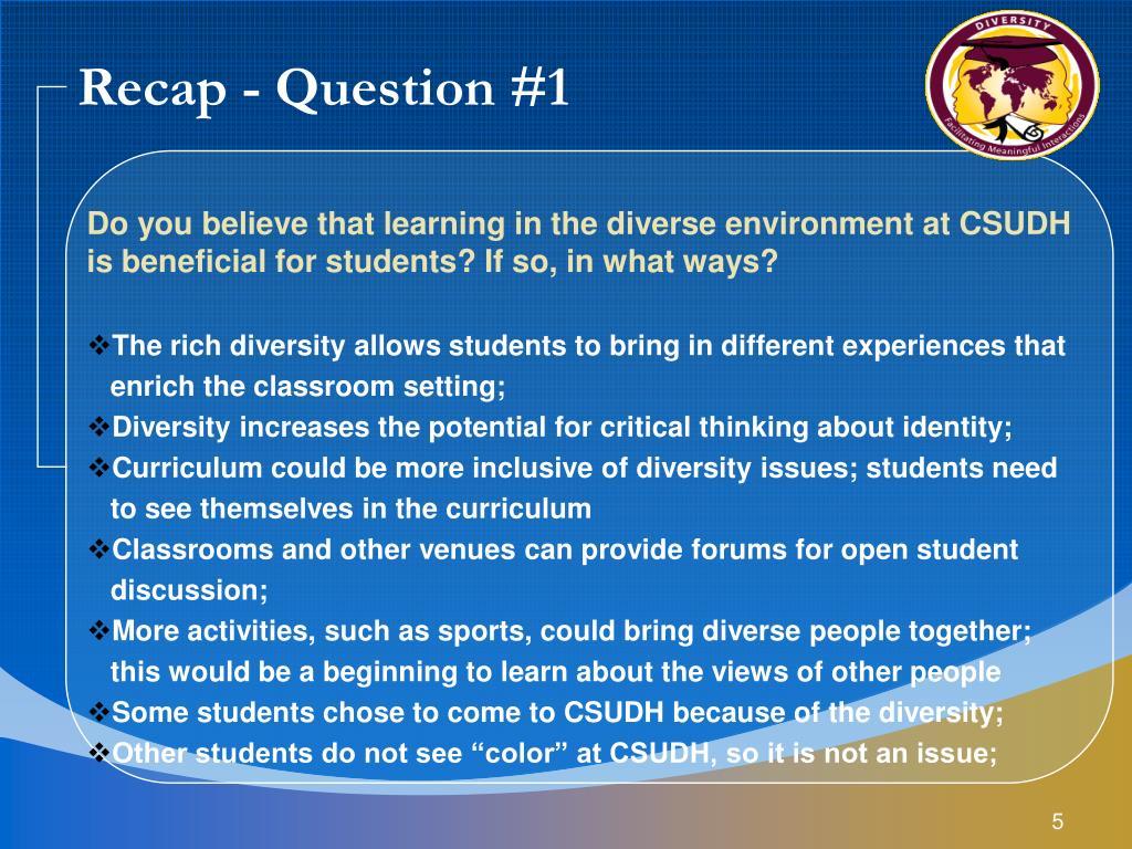 Recap - Question #1