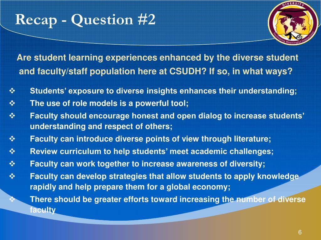Recap - Question #2