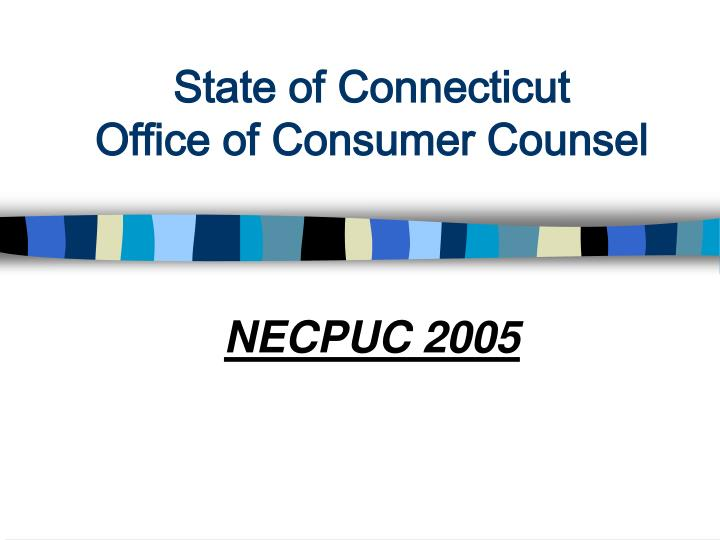 state of connecticut office of consumer counsel n.
