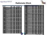 radiometer block