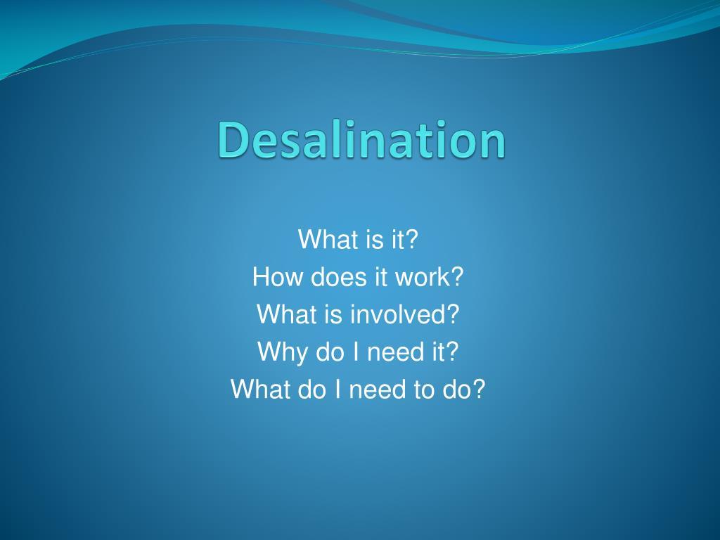 desalination l.