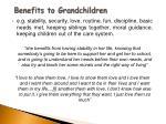 benefits to grandchildren