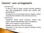 context care arrangements