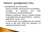 context grandparents lives