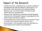 impact of the research