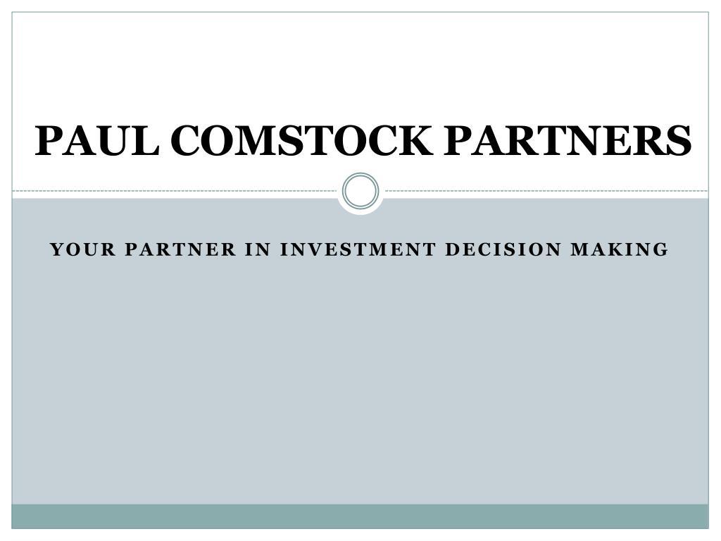 paul comstock partners l.