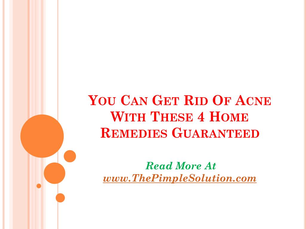 you can get rid of acne with these 4 home remedies guaranteed l.