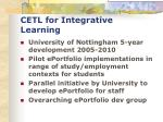 cetl for integrative learning