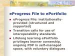 eprogress file to eportfolio