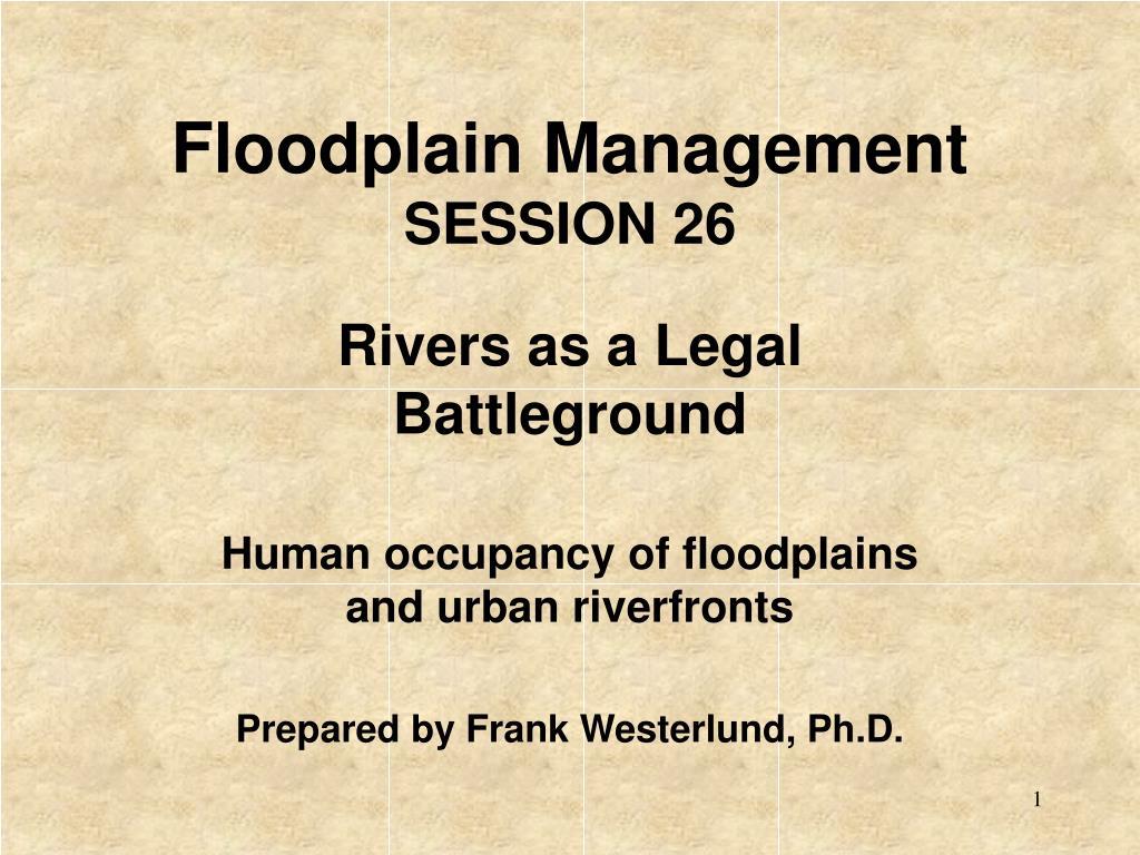 floodplain management session 26 l.
