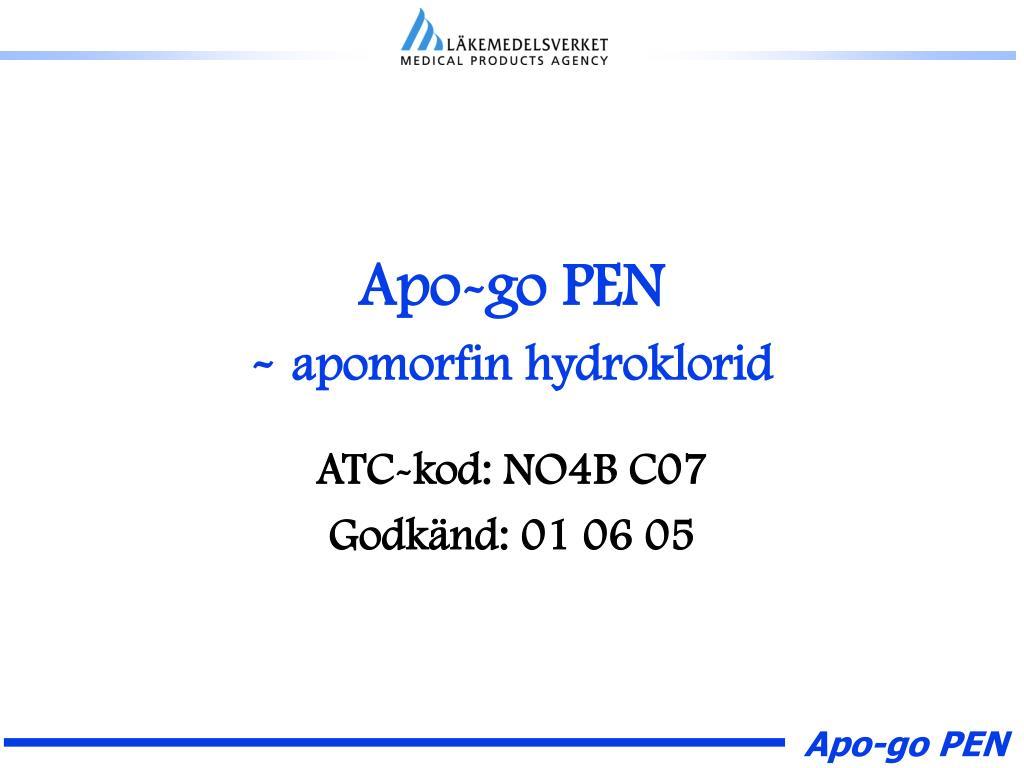 apo go pen apomorfin hydroklorid l.