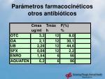 par metros farmacocin ticos otros antibi ticos