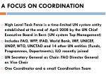 a focus on coordination