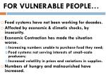 for vulnerable people