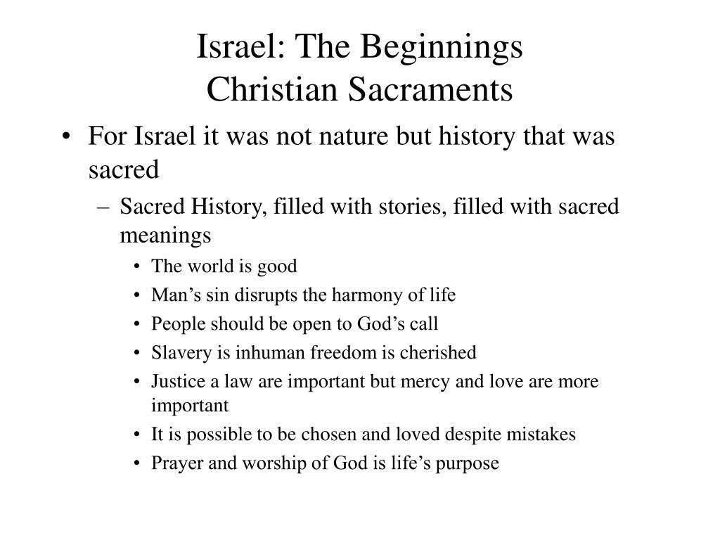 israel the beginnings christian sacraments l.
