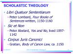 scholastic theology13
