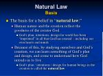 natural law basis