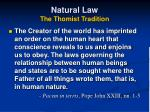 natural law the thomist tradition19
