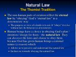 natural law the thomist tradition20