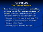 natural law the thomist tradition24