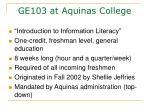 ge103 at aquinas college
