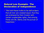 natural law example the declaration of independence