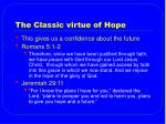 the classic virtue of hope