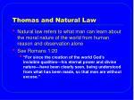 thomas and natural law