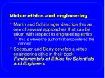 virtue ethics and engineering