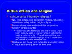 virtue ethics and religion