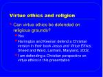 virtue ethics and religion19