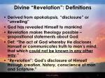 divine revelation definitions