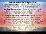 false views of inspiration