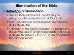 illumination of the bible