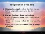 interpretation of the bible42