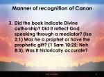 manner of recognition of canon31